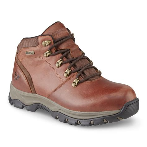 mens leather hiking boots outdoor s ascend waterproof leather hiker brown