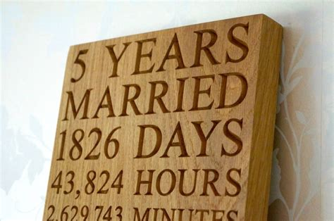 5th anniversary wall plaques makemesomethingspecial