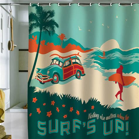 surfer shower curtain deny designs anderson design group surf s up shower