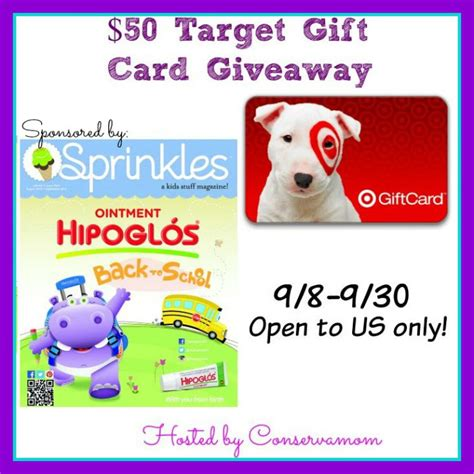 Sprinkles Gift Card - 50 target gift card giveaway sponsored by sprinkles