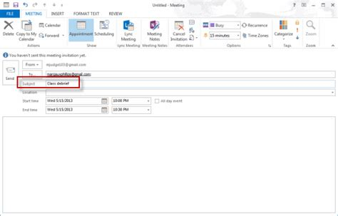Working With Fields Tutorial Webucator - scheduling a meeting exercise tutorial webucator
