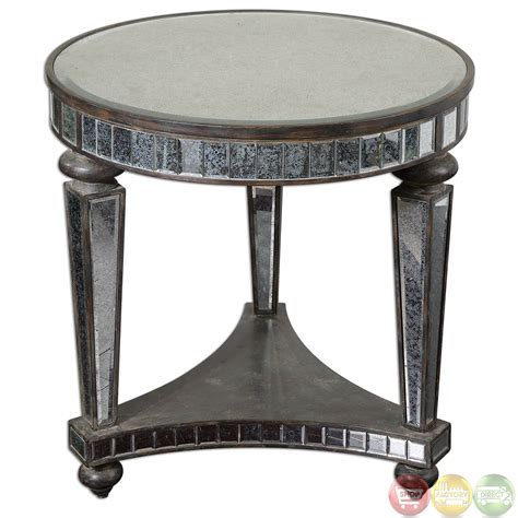 Mirrored Accent Table Sinley Contemporary Mirrored Accent Table 24235
