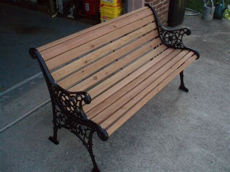 wrought iron bench wood slats a new chapter diy restoring a park bench