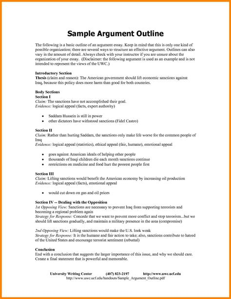 Agrument Essay by Resume Exle Outline For Persuasive Essay Outline Template Outline For Persuasive Essay