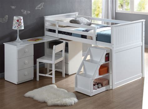 Wood Loft Bed With Desk From Sears Com White Wood Loft Bed With Desk