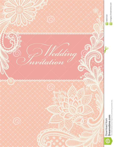 Wedding Announcement Backgrounds by Wedding Invitations With Vintage Lace Background
