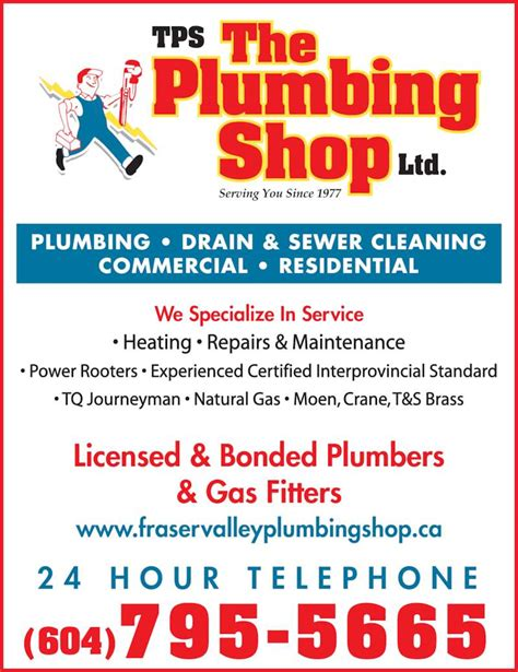 Plumbing In Bc by The Plumbing Shop Chilliwack Bc 49512 Yale Rd Canpages