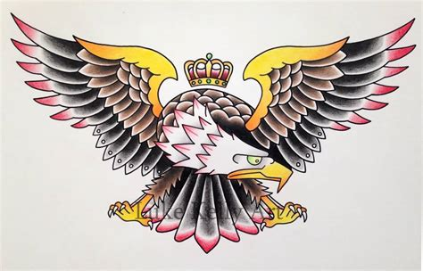 tattoo eagle old school 45 classy nice old school eagle tattoos idea golfian com