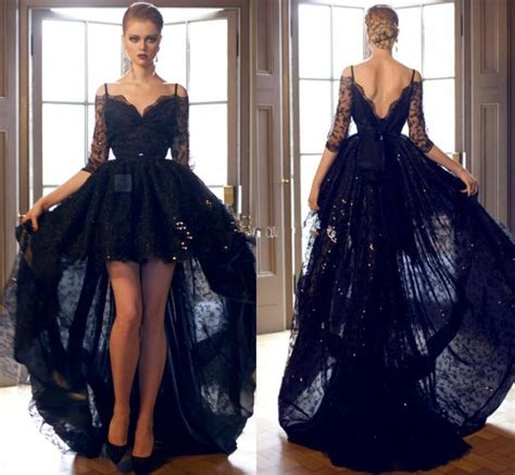 black prom dresses 2015 sexy hi lo 2015 black prom dresses lace formal cocktail