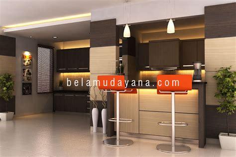desain dapur gaya bar renovasi dapur dan minibar bergaya modern minimalist