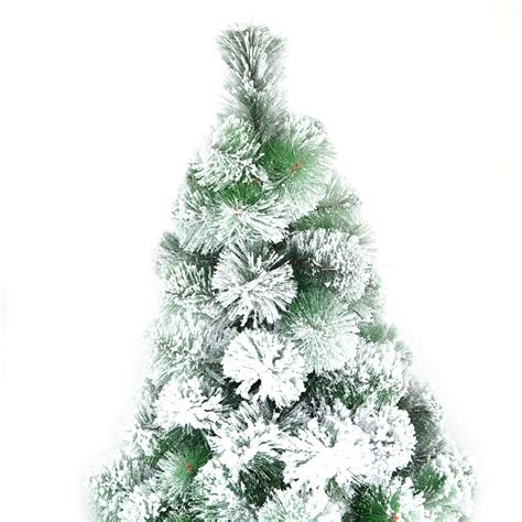 snow covered christmas tree 4ft 5ft 150cn artificial tree snow covered pine tips home decorations