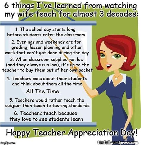 Teacher Appreciation Memes - teacher appreciation day imgflip