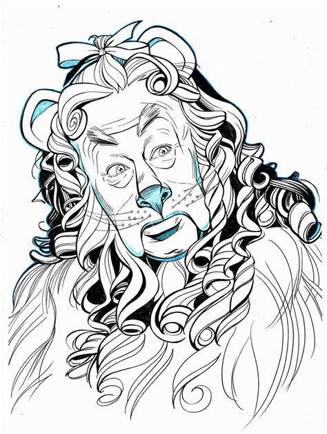 cowardly lion coloring pages oz cowardly lion portrait by jerome k moore on deviantart