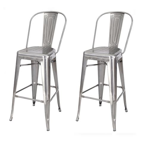 30 inch metal bar stools with back joveco 30 inches metal barstool with back set of two
