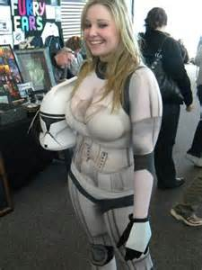 Ah a lovely body painted stormtrooper clone trooper very nice what