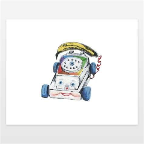 fisher price printable greeting cards nostalgic fisher price toy phone and banana watercolor and