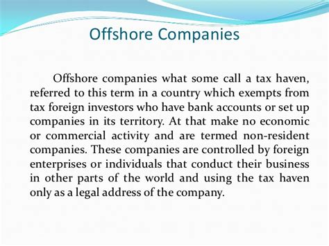 setting up an offshore bank account how offshore companies are registeree in a country