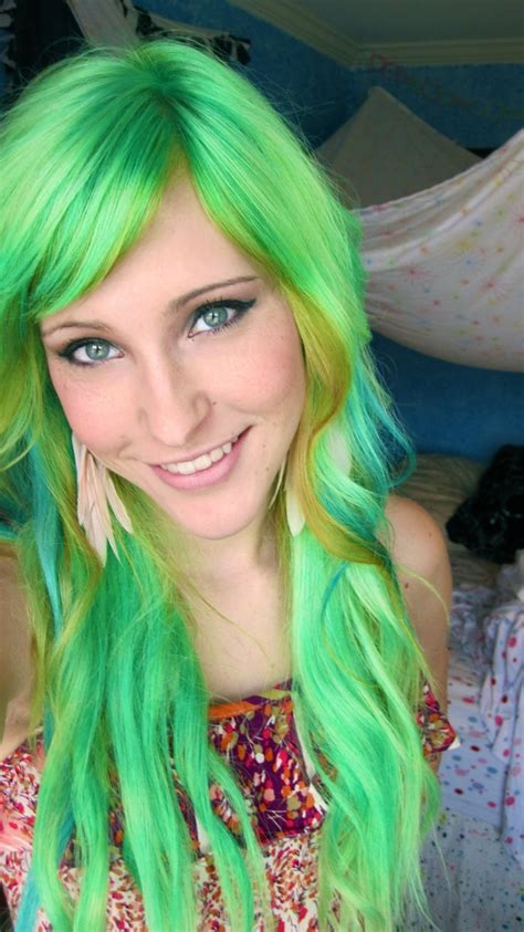 green hair color 1000 images about green hair on pinterest mint hair