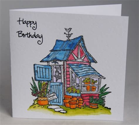 a handmade birthday card for the keen gardener handmade