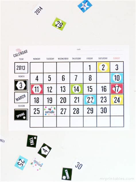 printable blank calendars mr printables