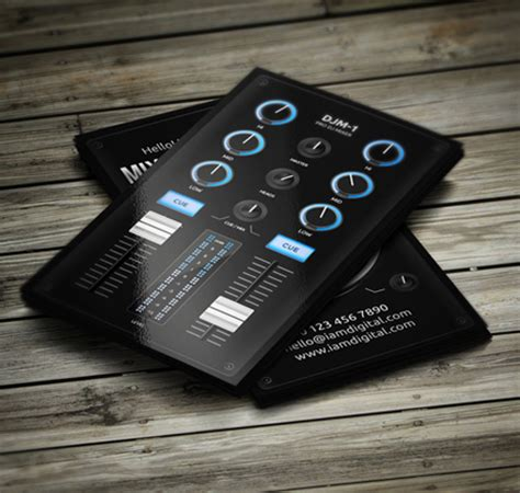 11 Amazing Business Card Templates For Dj S Cardrabbit Com Digital Card Templates