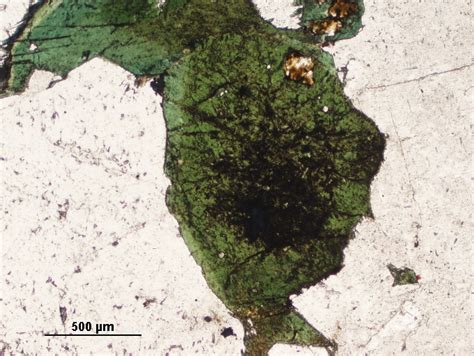 aegirine thin section index of geosciences petrology petrography aegirine thin