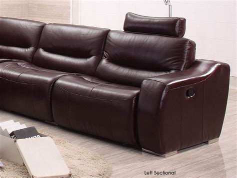 large spacious italian leather sectional sofa in