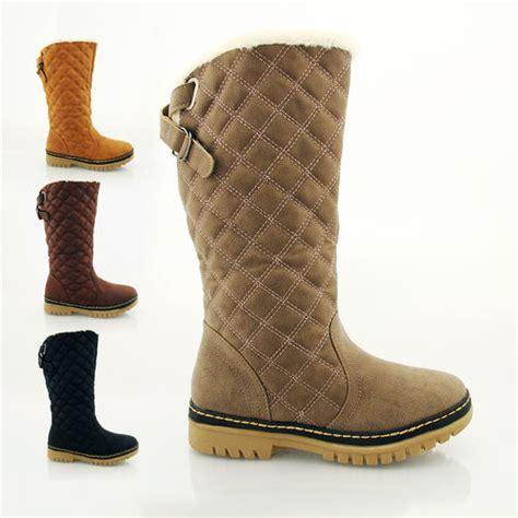 fashion winter calf snow boots grip sole warm fur