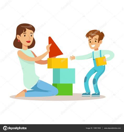 imagenes de niños jugando con sus padres mam 225 jugando cuadras con su hijo amor madre disfrutando
