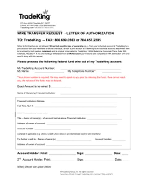 Wire Transfer Request Letter Single Pole Switch With Pilot Light