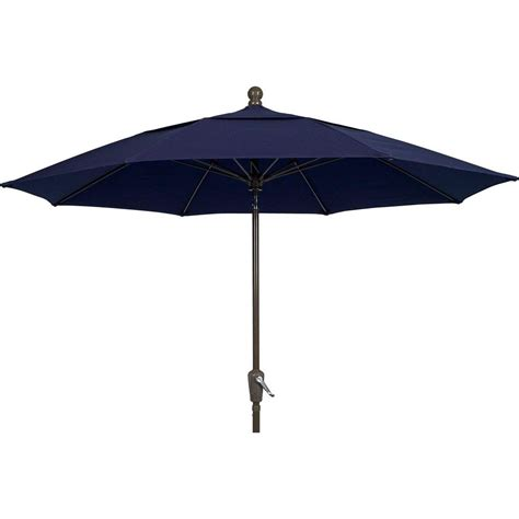 Patio Umbrella 11 Hton Bay 11 Ft Led Offset Patio Umbrella In Sunbrella Sand Yjaf052 A The Home Depot
