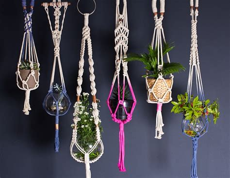 Macrame Hanging Plant - from thick rugs to knotted hanging plant holders this