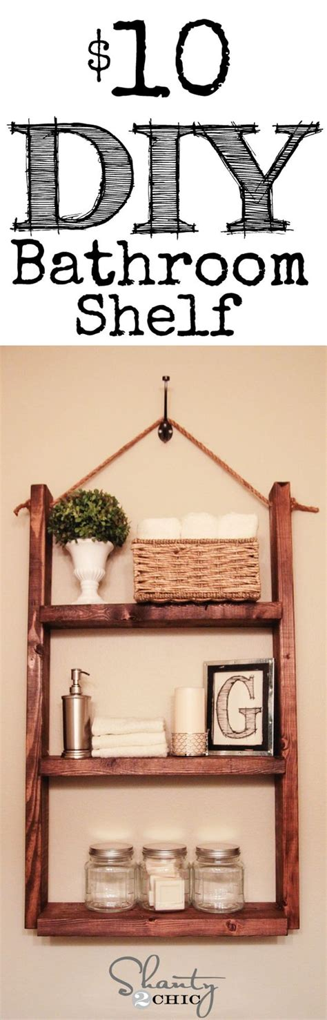 Bathroom Hanging Shelves How To Make A Hanging Bathroom Shelf For Only 10 Toilets Pallet Wood And This