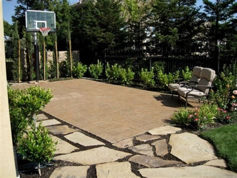 small backyard basketball court backyard basketball court ideas marceladick com