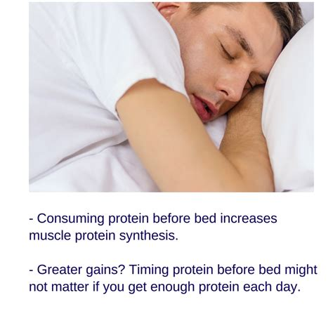 eating protein before bed protein before bed for muscle