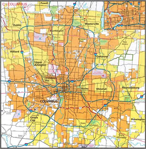 columbus ohio map usa mapa ohio usa