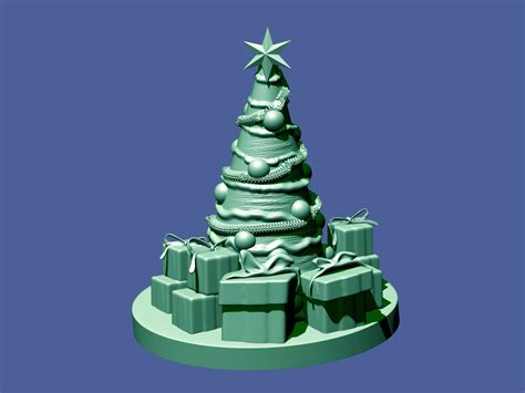 christmas tree 3d model 3d printable stl cgtrader com