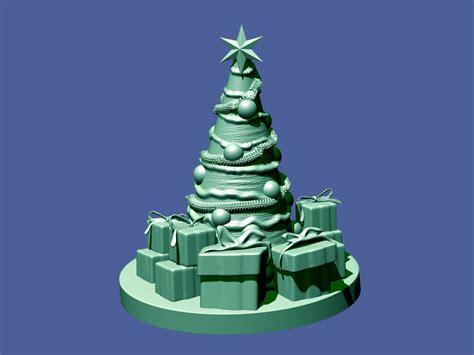 christmas tree 3d model 3d printable stl cgtrader com