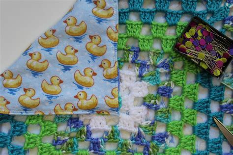fabric crafts blanket learn to sew fabric lining to your crochet and knit