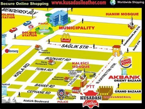 kusadasi city map kusadasi leather center city map