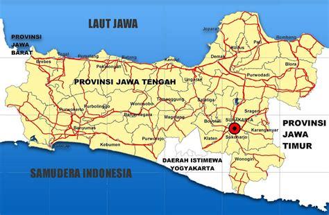 erafone kabupaten sukoharjo jawa tengah peta jawa tengah lengkap dengan daftar 35 kabupaten dan