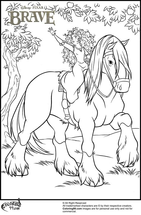 love disney princess coloring pages horses coloring pages