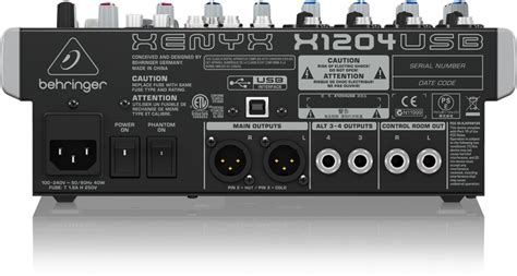 Mixer Behringer Xenyx X1204usb x1204usb analog mixers mixers behringer categories