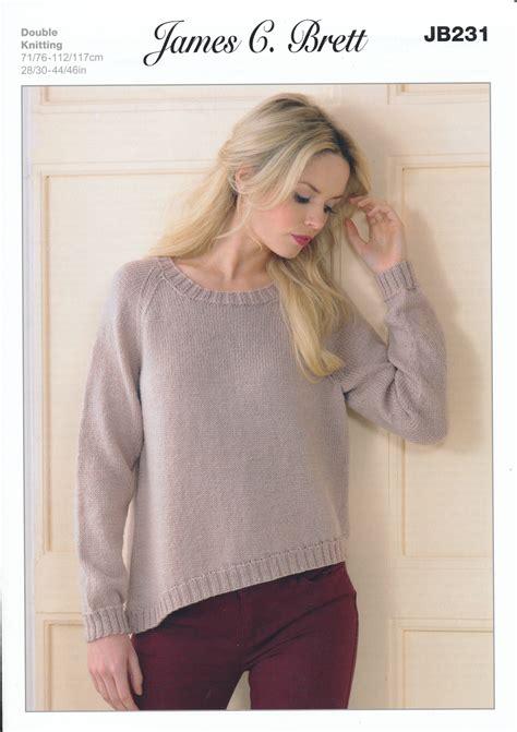 knitting pattern ribbed jumper james brett double knitting pattern womens ribbed sweater
