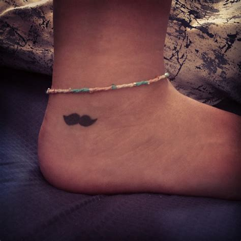 mustache tattoo ankle tattoos and designs page 342
