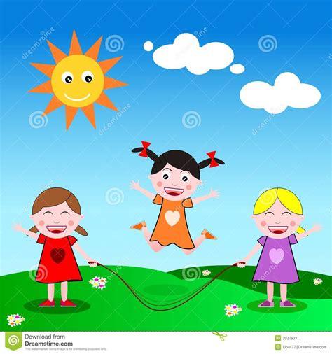 imagenes de niños jugando ala cuerda saltar la cuerda imagen de archivo imagen 20279031