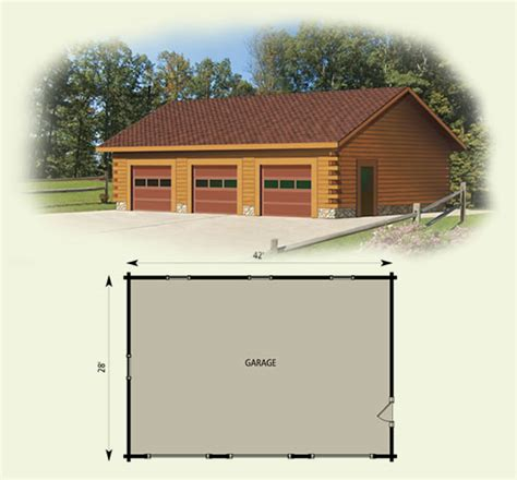log cabin floor plans with garage garage