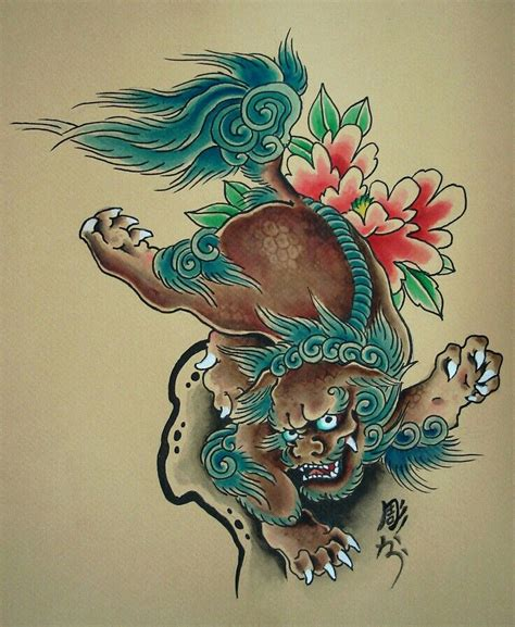 lucky dog tattoo asian foo guardian inspirations guardian