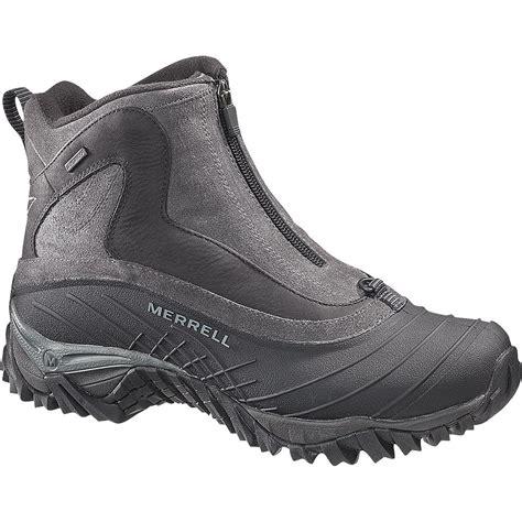 merrell mens winter boots merrell isotherm zip waterproof winter boots s