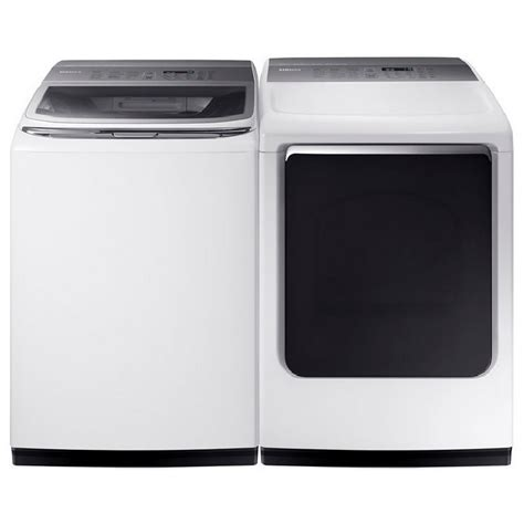 samsung appliances wa54m8750aw samsung appliances 5 4 cu ft top load washer with activewash and integrated touch
